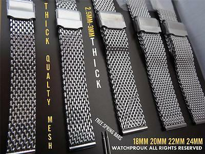 Dive Stainless Steel Mesh Bracelet Shark Milanes Strap Band To Fit Breitling