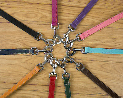 Leather Leads Various Sizes And Colours Made In The Uk Free P&p