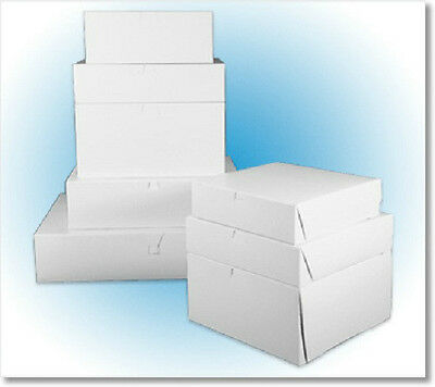 "10"" X 6"" X 3.5"" White Donut/pastry/bakery Box, 1 Piece, Hinged (10 Boxes)"