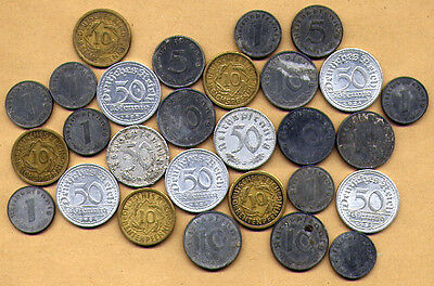 Wehrmacht Wwii - A Grouping Of German Coins 1939 - 1944
