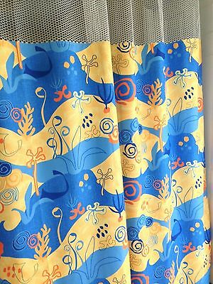 "Curtain SeaLife 68""x93 HOSPITAL CLINIC LAB Antibacterial Antimicrobial medical"