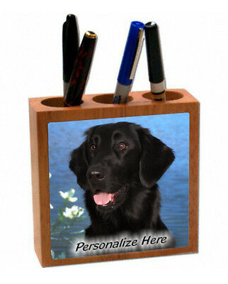 Flat-Coated Retriever  ( 3 )   Personalized  Pencil and Pen Holder