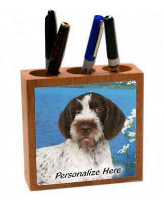 German Wirehaired Pointer      Personalized  Pencil and Pen Holder