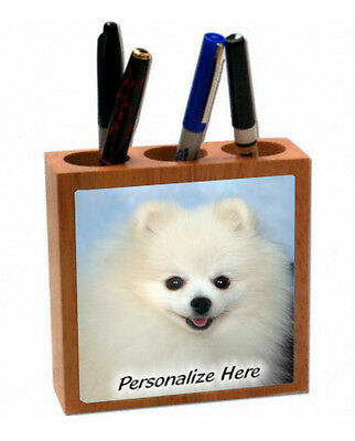 Pomeranian   cream color   ( 9955 )   Personalized  Pencil and Pen Holder