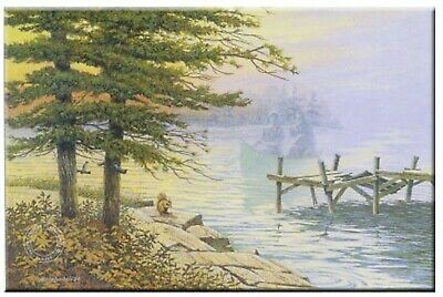 October Return Limited Edition Print By James Lumbers Canoeing/Lake/Cottage LO_O