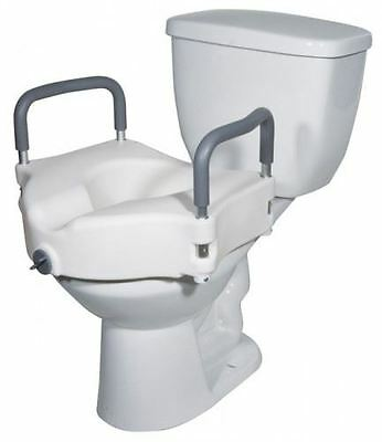 """5"""" Raised Toilet Seat Raiser With Removable Arms"""