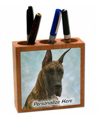 Great Dane     brendle color   ( 43 )     Personalized  Pencil and Pen Holder