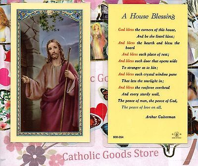 A House Blessing - Laminated Holy Card