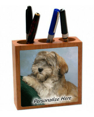 Havanese     cream  color    ( 1 )   Personalized  Pencil and Pen Holder