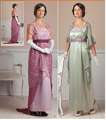 Edwardian Titanic Costume Simplicity Sewing Pattern 1517 Misses Evening Gown