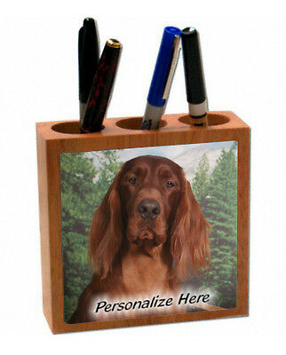Irish  Setter   ( 8 )   Personalized  Pencil and Pen Holder