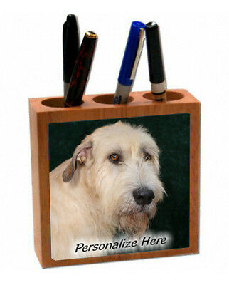 Irish  Wolfhound   wheaten color  ( 1 )   Personalized  Pencil and Pen Holder