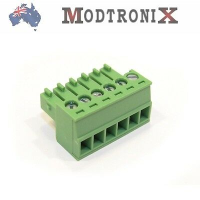6 Way/Pin 3.5mm Terminal Block Plug, Phoenix Cmptble, SYD COMBINED Post