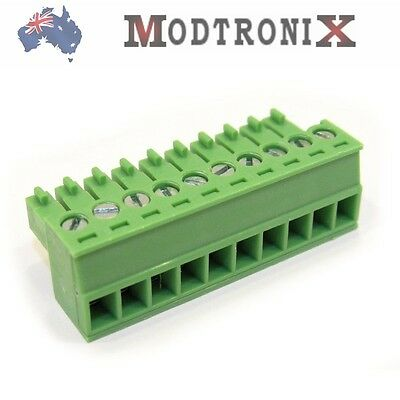 10 Way/Pin 3.5mm Terminal Block Plug, Phoenix Compatible, SYD COMBINED Shipping