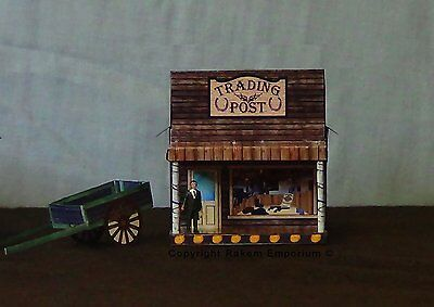 HO Scale Trading Post Country Style Model Railway Building Kit - RETP1