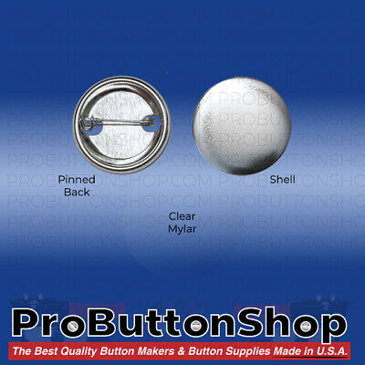"1000 1-1/4"" inch 1.25 Tecre Complete Pinback Button Badge Machine Parts Set"
