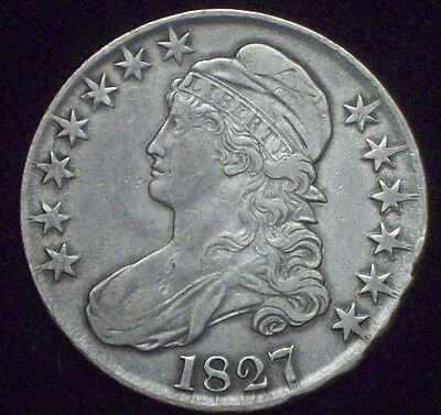 1827 BUST HALF DOLLAR *SILVER* O-121 Rarity 3 - XF Detailing *PRICED TO SELL*