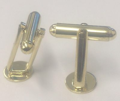 Cufflink With 9mm Disc Gilt Plate with Angled Frame 100 Pieces (50 Pairs)