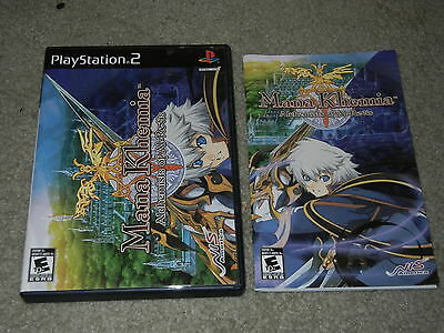 ***MANA KHEMIA ALCHEMISTS OF AL-REVIS PLAYSTATION 2 REPLACEMENT CASE AND MANUAL