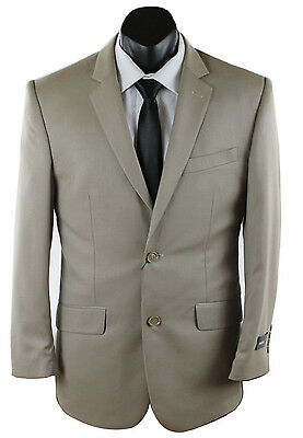 Mens 2Pc Beige Formal Business Poly Viscose Suit Jacket & Trousers