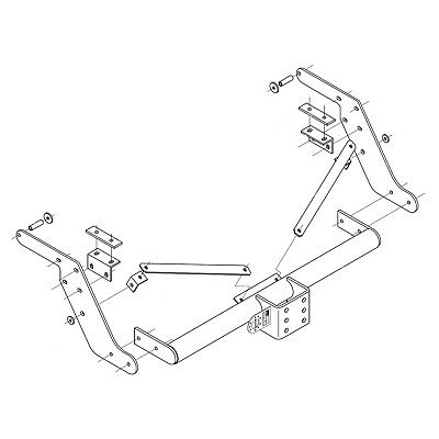 Witter Towbar For Toyota Hilux 4wd With Under Run 2011 2016