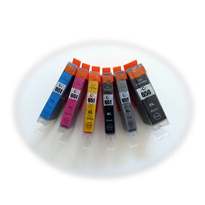 12 x compatible ink PGI-650 XL CLI-651XL for Canon pixma MG6360 ip7260 MG7160