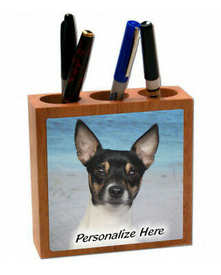 Rat  Terrier    (2 )    Personalized  Pencil and Pen Holder