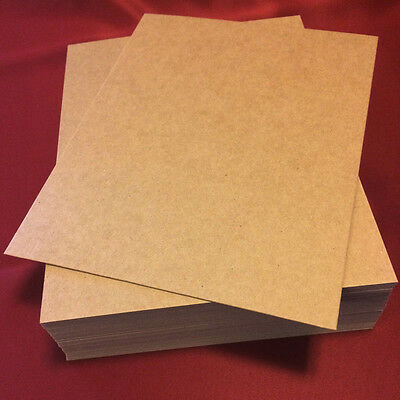 "Chipboard 0.050 Xtra Thick Rigid! 8.5x11"" sheets 20,40,50,60,80 or 100 quantity"