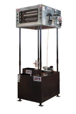 Waste Oil Heater/Furnace Lanair MX250 with tank and chimney FREE SHIP Great heat
