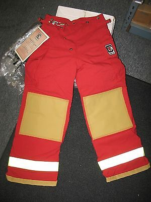 Chieftain Turnout Pant, Small x 29, Red Nomex, NOS