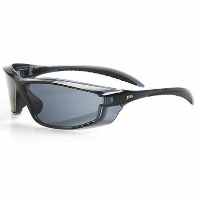 12 Pack Smoke Vented Wrap Around Safety Glasses Specs Aus Safety Standards New