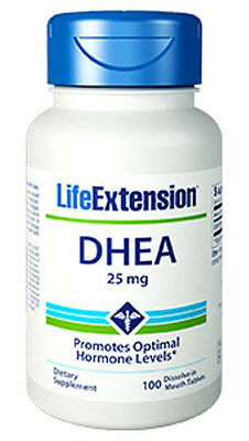 DHEA (25 mg) - Life Extension - 100  Lozenges (dissolve in mouth tablets)