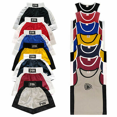 Kids Boxing Shorts & Top Set 2 Pieces High Quality Satin Fabric 3 TO 14 years