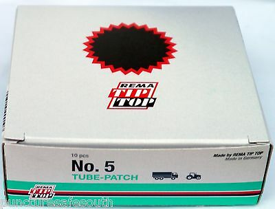 Rema Tip Top No.5 Red Edge Premium Inner Tube Repair Patches 94mm 10 pack