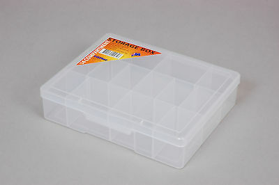 Fischer Plastic Products 14 Compartment Storage Box Medium 1H-039 Clear