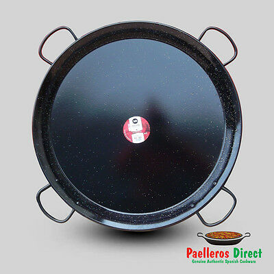 80cm Authentic Traditional Enamelled Steel Paella Pan