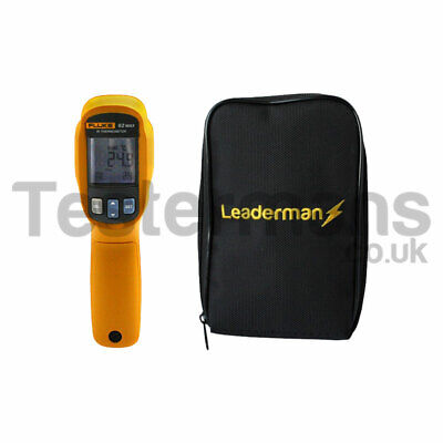 Fluke 62 MAX Infrared Thermometer & Deluxe Leaderman Padded Carry Case LDMC1