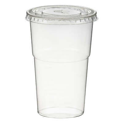 Smoothies Cups inkl. Deckel mit Schlitz 250 ml Ø 78mm PET glasklar Plastikbecher
