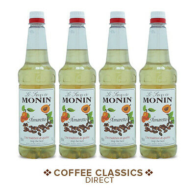 *MULTI-LISTING* 4 x 1 Ltr Bottles MONIN Coffee Syrup. Various Flavours!