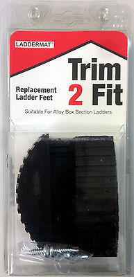 Trim 2 Fit Replacement Ladder Safety Feet Trim to Fit - 1 x Pair (2 Feet)
