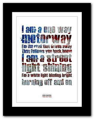 ❤   FOO FIGHTERS Times Like These ❤ lyric poster art print A1 A2 A3 or A4