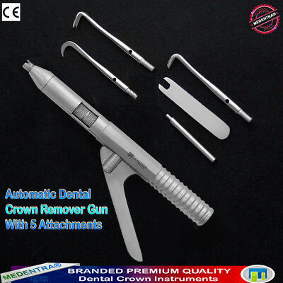 Medentra Crown Removal Gun Automatic Dental Crowns Remover Tool Free Attachment