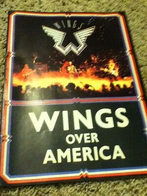 PAUL McCARTNEY & WINGS 1976 U.S. WINGS OVER AMERICA TOUR  PROGRAM BOOK Beatle Uk