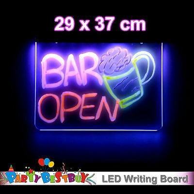 29 x 37CM LED Flashing Writing Board Restaurant Shop Menu Bundle Sign Ver.3