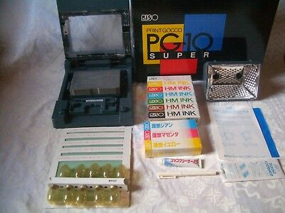 New! RISO Print Gocco PG-10 Super same as PG-11 5 Master 10 Lamp 10 ink