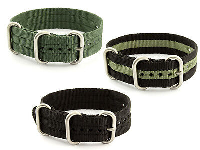 One-Piece Nylon Watch Strap Band Military Army Diver MoD G10 SS Brushed Buckle