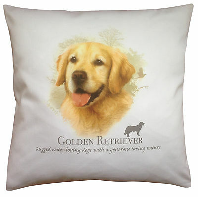 Golden Retriever Breed of Dog Cotton Cushion Cover with Story - Perfect Gift