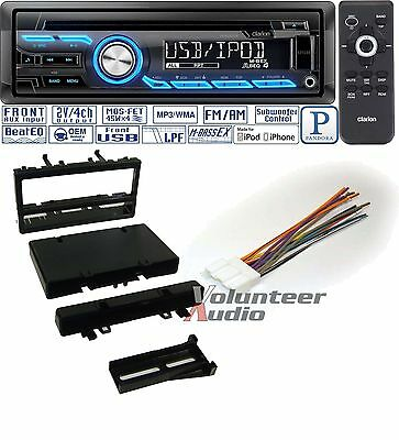 CLARION CAR RADIO STEREO CD PLAYER DASH INSTALL MOUNTING KIT HARNESS ANTENNA