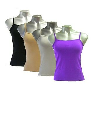 1x Women's Bamboo Fibre Thin Strap Top Tank Camisole Singlet T-Shirt