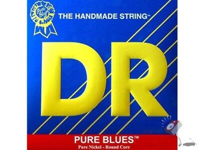 DR PHR-9 Pure Blues Light Lite Nickel Round Core Electric Guitar Strings 9-42